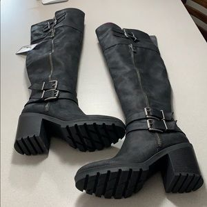 White Mountain knee high boots
